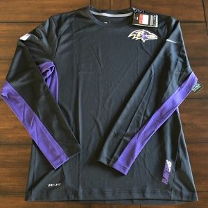 Nike Dri-Fit Coach's LS BALTIMORE RAVENS MENS L